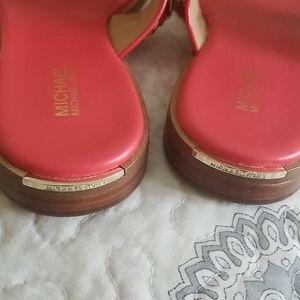 Michael Kors Shoes - Michael Kors Leather Gold Chain Sandals